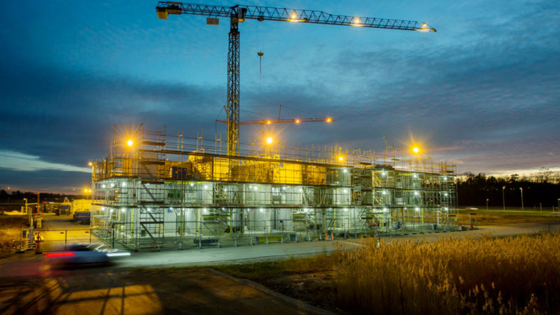Svensk Armering & Betongbyggen AB utförde betonggjutning av platta, stommar, balkonger och trappor