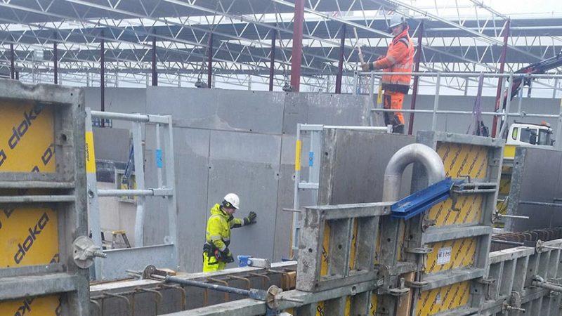 Betongarbete i Sisjön där Svensk Armering & Betongbygge AB utförde betonggjutning och armering.