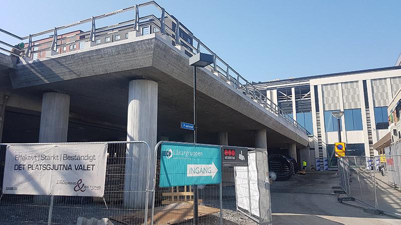 Breddning av betongbro i Mölndal