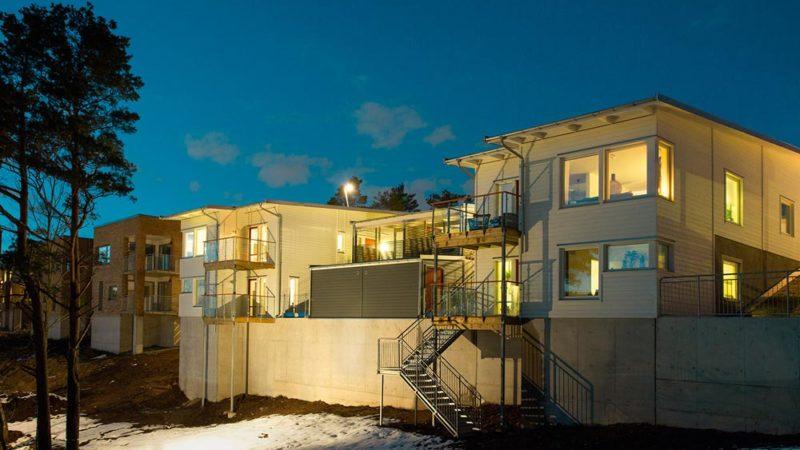 BRF Stensjövillan i Mölndal där S.A.B.B utförde betonggjutning.